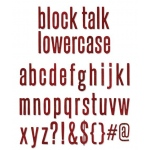 Sizzix Tim Holtz Alterations Bigz XL Alphabet Die: Block Talk Lowercase