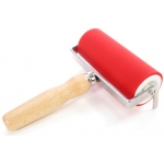 "American Educational ABIG Ink Roller Aluminum Core and Beechwood Handle: 4.75"" Wide"