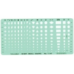 """Timely® Giant Small Shapes Template; Color: Green; Scale: 1/16"""" - 3/8""""; Size: 4 7/8"""" x 9 7/8"""" x .020""""; Type: General Purpose; (model 141T), price per each"""