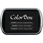 ColorBox® Full Size Pigment Ink Pad Dragonfly Black; Color: Black/Gray; Format: Pad; Ink Type: Pigment; Shape: Full Size Rectangle; (model CS15173), price per each