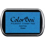 ColorBox® Full Size Pigment Ink Pad Ocean; Color: Blue; Format: Pad; Ink Type: Pigment; Shape: Full Size Rectangle; (model CS15201), price per each