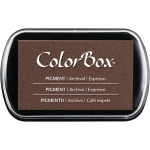 ColorBox® Full Size Pigment Ink Pad Espresso; Color: Brown; Format: Pad; Ink Type: Pigment; Shape: Full Size Rectangle; (model CS15205), price per each