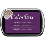 ColorBox® Full Size Pigment Ink Pad Plum; Color: Purple; Format: Pad; Ink Type: Pigment; Shape: Full Size Rectangle; (model CS15222), price per each