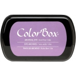 ColorBox® Full Size Archival Dye Ink Pad Lilac; Color: Purple; Format: Pad; Ink Type: Dye-Based; Shape: Full Size Rectangle; (model CS27037), price per each