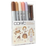 Copic® Ciao People Doodle Kit; Color: Multi; Double-Ended: Yes; Refillable: Yes; (model DKPEOP), price per set