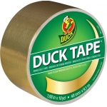 Duck Tape® Metallic Gold Tape (Roll): Metallic, Roll, 10 yd, Color, (model DT280748), price per each