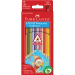 Faber-Castell® GRIP 12 Watercolor EcoPencils; Format: Pencil; Type: Watercolor; (model FC9121212), price per set