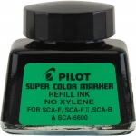 Pilot®  Super Color Black Refill Ink (Xylene-Free); Color: Black/Gray; Format: Bottle; Refill: Yes; Type: Refill; (model 48500), price per each