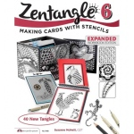 Design Originals - Zentangle 6 - Making Cards with Stencils Expanded Workbook Edition