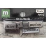 Making Memories - Eyelet Words - Family