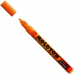 MOLOTOW™ 2mm Fine Tip Acrylic Pump Marker Dare Orange: Orange, Paint, Refillable, 2mm, Paint Marker, (model M127203), price per each
