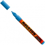 MOLOTOW™ 2mm Fine Tip Acrylic Pump Marker Shock Blue Middle; Color: Blue; Ink Type: Paint; Refillable: Yes; Tip Size: 2mm; Type: Paint Marker; (model M127205), price per each