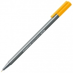 Staedtler® Triplus® Light Orange Fineliner Pen : Orange, .3mm, Fine Nib, Technical, (model 334-43), price per each