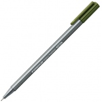 Staedtler® Triplus® Olive Green Fineliner Pen ; Color: Green; Tip Size: .3mm; Tip Type: Fine Nib; Type: Technical; (model 334-57), price per each