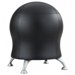 "Zenergy™ Black Antimicrobial Vinyl Ball Chair; Arm Rest Included: No; Color: Black/Gray; Foot Ring Included: No; Height Range: Under 24""; Seat Material: Vinyl; (model 4751BL), price per each"