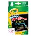 Crayola® Washable Dry Erase Bright 8-Color Crayon Set: Dry Erase, (model 98-5202), price per set