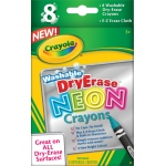 Crayola® Washable Dry Erase Neon 8-Color Crayon Set: Dry Erase, (model 98-8605), price per set