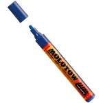 MOLOTOW™ 4mm Round Tip Acrylic Pump Marker True Blue; Color: Blue; Ink Type: Paint; Refillable: Yes; Tip Size: 4mm; Type: Paint Marker; (model M227206), price per each