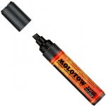 MOLOTOW™ 4-8mm Chisel Tip Acrylic Pump Marker Signal Black; Color: Black/Gray; Ink Type: Paint; Refillable: Yes; Tip Size: 8mm; Type: Paint Marker; (model M327555), price per each