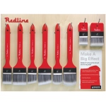 Princeton™ Redline™ Large Brush Wall Display; Material: Synthetic; Type: Multi; (model P6700D), price per each