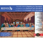 "Reeves™ Large Painting By Numbers The Last Supper; Board Size: 12"" x 16""; Size: 12"" x 16""; (model PBNACL12), price per each"