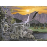 """Royal & Langnickel® Painting by Numbers™ 11 1/4 x 15 3/8 Junior Large Set Path Of The Wolf Spirit: 11 1/4"""" x 15 3/8"""", (model PJL38), price per set"""
