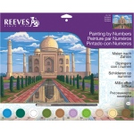 "Reeves™ Large Acrylic Painting By Numbers Set Taj Mahal; Board Size: 12"" x 15 1/2""; (model PL103), price per each"
