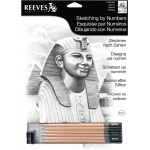 "Reeves™ Medium Sketching By Numbers Sphinx; Color: Black/Gray; Size: 12"" x 15""; (model PPSKM6), price per each"