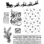 Stampers Anonymous - Tim Holtz - Christmas Nostalgia Stamp Set