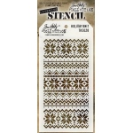 Stampers Anonymous - Tim Holtz - Layering Stencil - Holiday Knit