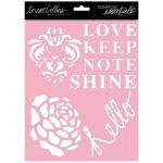 Teresa Collins Designs - Signature Essentials - 8x10 Stencils - Shine