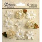 Petaloo - Mixed Textured Mini Blossoms - Ivory