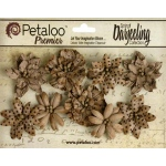Petaloo - Wild Blossoms - Medium - Craft Brown