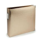 We R Memory Keepers - Album - Leather 12x12 Ring Gold