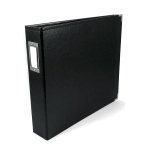 We R Memory Keepers - Album - Leather 12x12 Ring Black