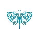 Couture Creations - Intricutz - Kalini - Stained Glass Butterfly Dies