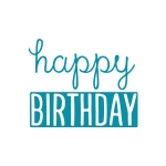 Couture Creations - Intricutz - Kalini - Happy Birthday Title Dies
