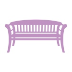 Couture Creations - Intricutz - Secret Garden - Park Bench Dies