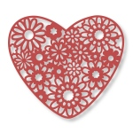 Couture Creations - Floral Lace - Heart Bouquet Dies