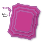 Couture Creations - Sweet Accent - Nesting Fancy Rectangles Dies