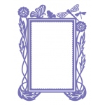 Couture Creations - Hearts Ease - Hearts Ease Frame 5x7 Embossing Folder
