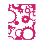 Couture Creations - Mikashet - Grungy Cogs N Gears A2 Embossing Folder