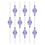 Couture Creations - Hearts Ease - Lilliputana Curtain 5x7 Embossing Folder