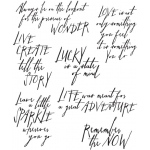 Stampers Anonymous - Tim Holtz - Handwritten Thoughts Stamp Set