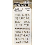 Stampers Anonymous - Tim Holtz - Stencil - Valentine