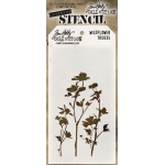 Stampers Anonymous - Tim Holtz - Stencil - Wildflower