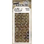 Stampers Anonymous - Tim Holtz - Stencil - Bricked