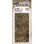 Stampers Anonymous - Tim Holtz - Stencil - Crackle