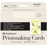 "Strathmore® Full Size Printmaking Cards 10-Pack: White/Ivory, Card, 10 Cards, 5"" x 6 7/8"", Medium, 280 g, (model ST105-433), price per 10 Cards"