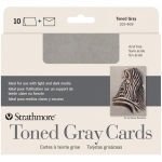 "Strathmore® Toned Grey Sketch Cards; Color: Black/Gray; Format: Card; Size: 5"" x 6 7/8""; Type: Card; Weight: 80 lb; (model ST105-469), price per pack"